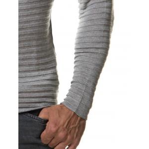 Slim Fit Ribbed Raglan Sleeve Tee - GRAY 2XL