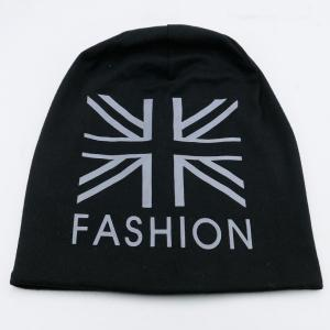 Letters Printed Knit Beanie Hat -