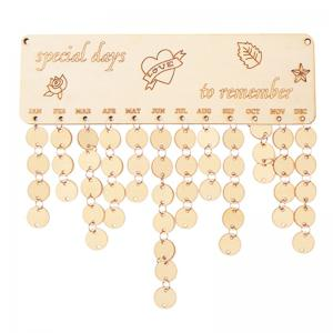 Special Days Birthday Calendar DIY Wooden Reminder Board - IVORY YELLOW