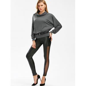 Stylish Cowl Necked Buttocks Tight Long Blouse -