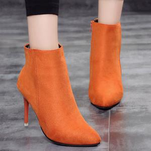 Pointed Toe Ankle Stiletto Boots - JACINTH 39