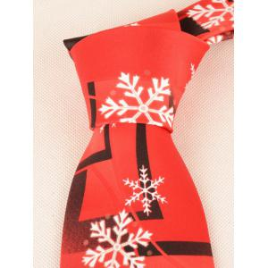 Snowflakes and Geometric Tie - RED