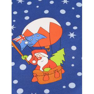 Santa Claus Flying by Balloon Tie -