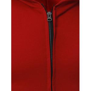 Zip Up Kangaroo Pocket Hooded Vest - BLACK 2XL