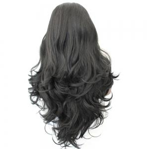 Long Center Parting Fluffy Loose Wave Synthetic Wig -