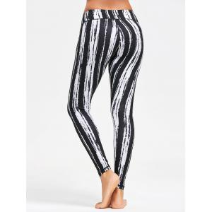 Tie Dye Striped Printed Running Leggings -