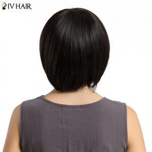 Siv Hair Short Up vers le haut Side Bang Straight Bob Hair Hair Wig - Noir