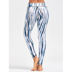 Ombre Printed Tight Leggings For Sports - WHITE XS
