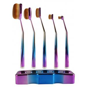 5 Pcs Toothbrush Shape Brushes Suit with Holder - BLUE