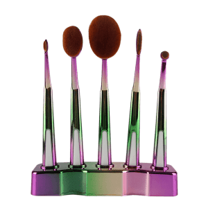 5 Pcs Toothbrush Shape Brushes Suit with Holder - GREEN