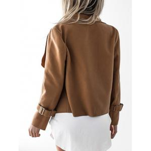 Suede Draped Jacket - CAMEL M