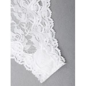 See Through Lace Cami Teddy - WHITE M