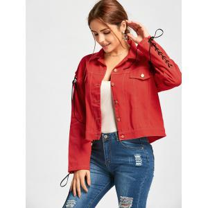 Lace Up Jacket - RED S