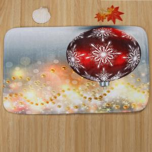 3Pcs Christmas Ball Print Toilet Bath Rugs Set - COLORMIX