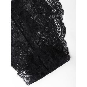 See Through Lace Panties - BLACK L