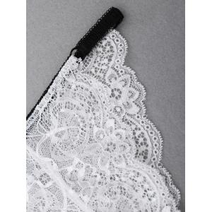 See Through Lace Panties - Blanc S