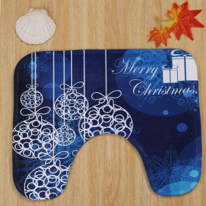 Christmas Baubles Pattern 3 Pcs Bath Mat Toilet Mat -