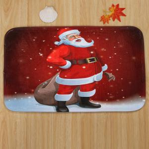 Christmas Santa Claus Pattern 3 Pcs Bath Mat Toilet Mat -
