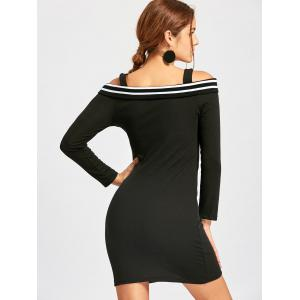 Cold Shoulder Sweater Bodycon Dress -