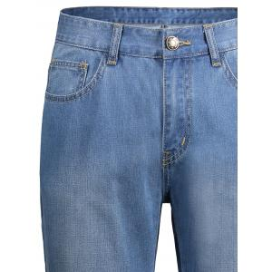 Faded Zip Fly Regular Fit Jeans -