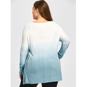 Taille supérieure Ombre Patch Pocket High Low Top -