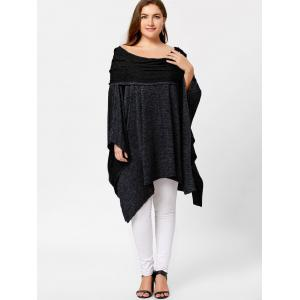 Off Shoulder Plus Size Asymmetric Tunic Top -