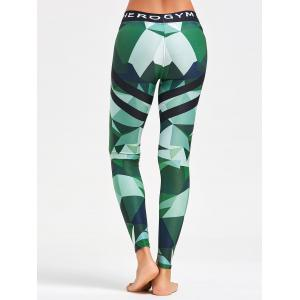 Triangle Pattern Printed Yoga Leggings -