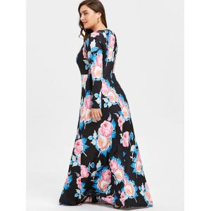 Robe à rayures florales -