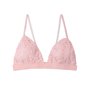 Plunged Lace Bralette -