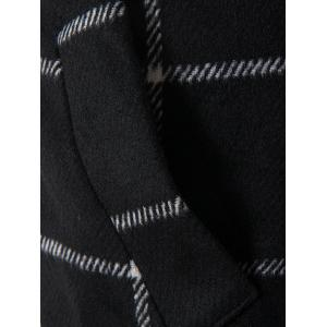Lapel One Button Graphic Print Checked Coat -