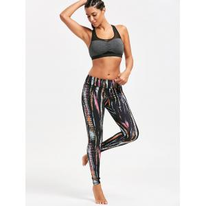 Colorful Stripe Tie Dye Exercise Leggings -