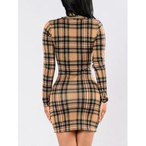 Robe Bodycon Plaid -