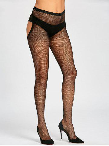 Affordable Cut Out Fishnet Sheer Tights