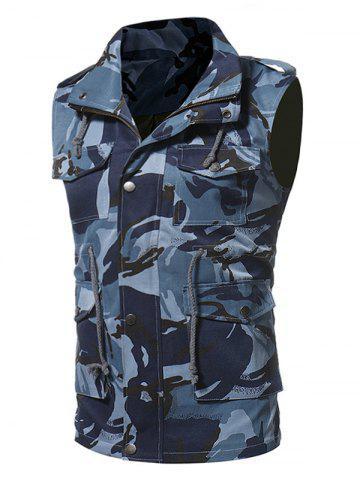 Buy Camouflage Zip Up Fatigue Waistcoat