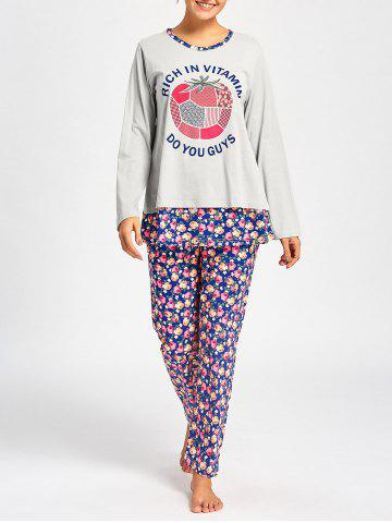 Outfit Nursing Nightwear T-shirt with Floral Pants