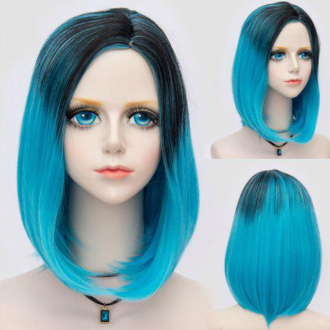 Latest Medium Side Parting Straight Bob Ombre Synthetic Party Wig