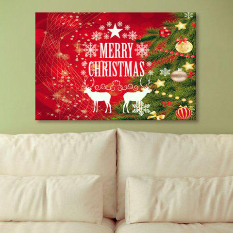 Shop 1Pcs Christmas Reindeer Prints Wall Art Canvas Painting