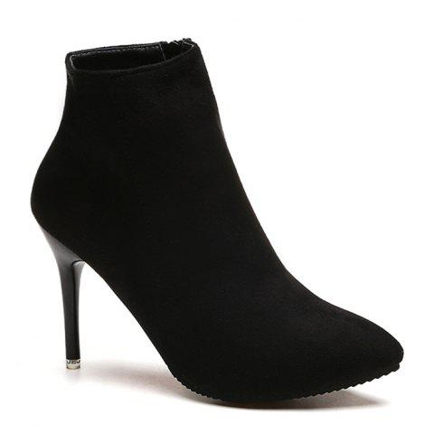 Affordable Pointed Toe Ankle Stiletto Boots