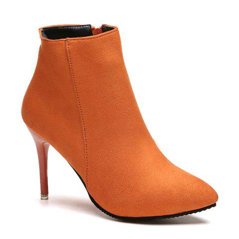 Discount Pointed Toe Ankle Stiletto Boots - 39 JACINTH Mobile