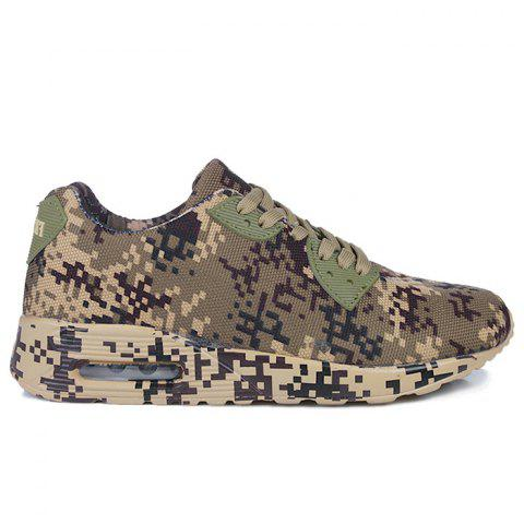 Shops Camouflage Breathable Casual Shoes BROWN 45