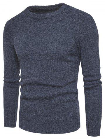 Best Knit Blends Elbow Patch Sweater - 3XL DEEP GRAY Mobile