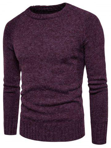 Shop Knit Blends Elbow Patch Sweater WINE RED 3XL