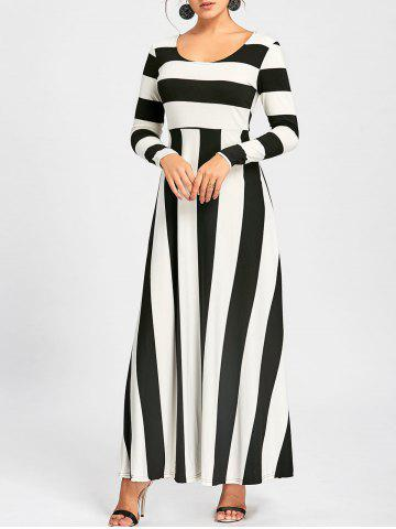 Shops Long Sleeve Striped Maxi Dress - S BLACK Mobile