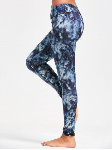 Shops Pocket Insert Tie Dye Leggings for Yoga - XL PURPLISH BLUE Mobile