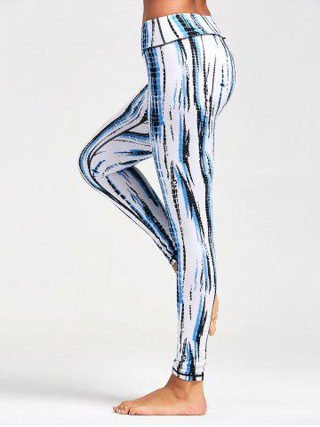 Unique Ombre Printed Tight Leggings For Sports WHITE XS