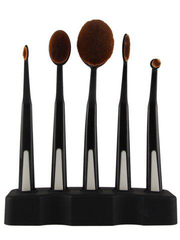 Hot 5PCS Toothbrush Shape Brushes with Holder - BLACK  Mobile