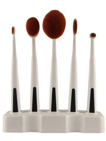 Chic 5PCS Toothbrush Shape Brushes with Holder