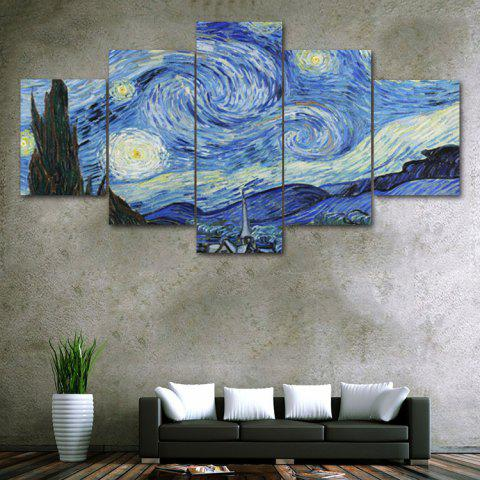 Discount Galaxy Night Print Unframed Split Canvas Paintings