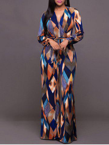 Shops Argyle Print Wide Leg Jumpsuit - XL COLORMIX Mobile