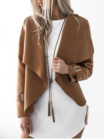 Hot Suede Draped Jacket CAMEL S